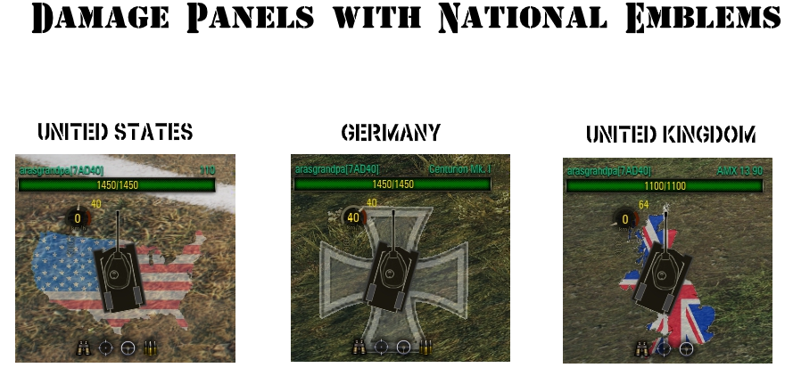 Damage Panels with National Emblems